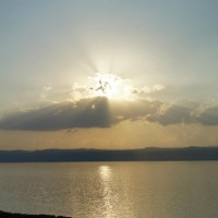 Sunset on the Dead Sea