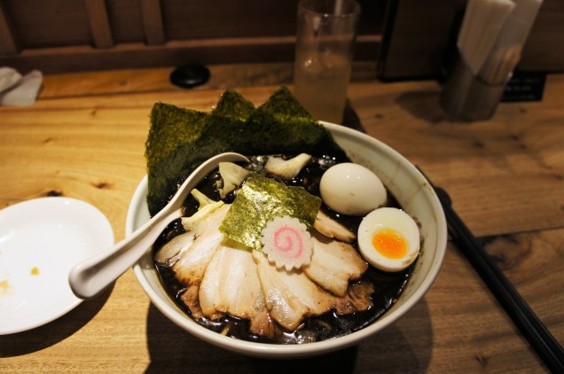 Burnt ramen at Gogyo in Kyoto