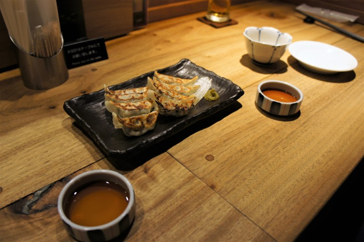 Gyoza at Gogyo in Kyoto