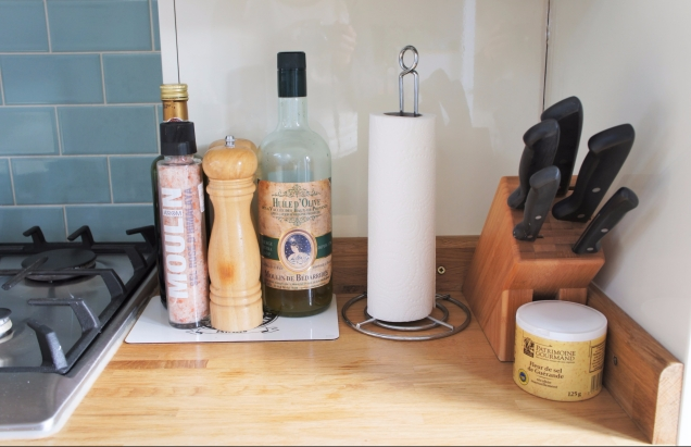 WMF knife block and condiments