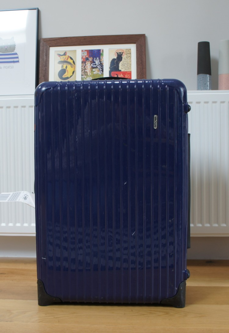 Old Rimowa blue suitcase