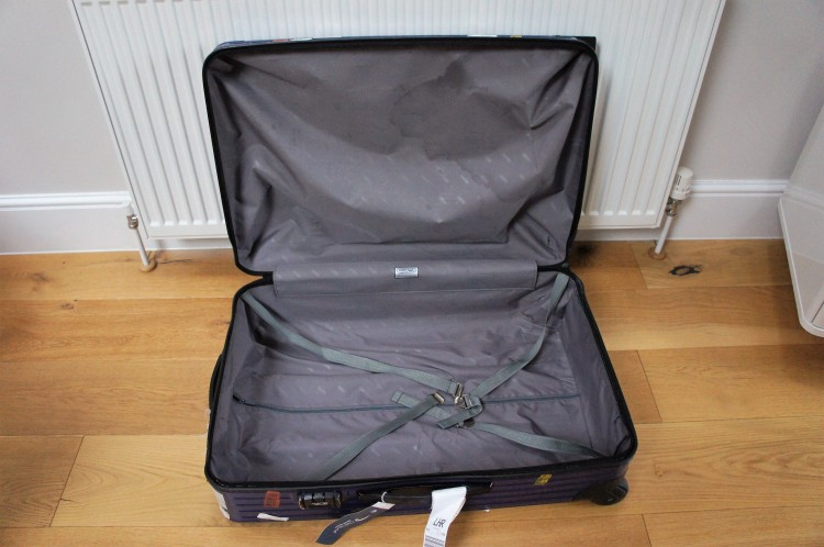 Old Rimowa inside suitcase