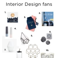 Christmas 2017 - Gift guide for Interior Design fans