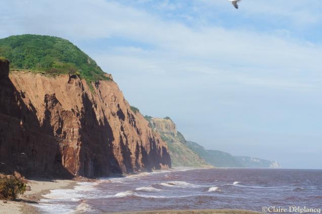 Red cliffs in Sidmouth Devon