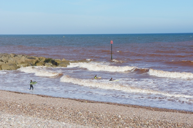 Sidmouth surfers