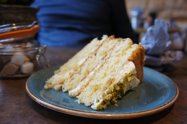 Lemon and pistachio cake The Hive Stow-on-the-Wold