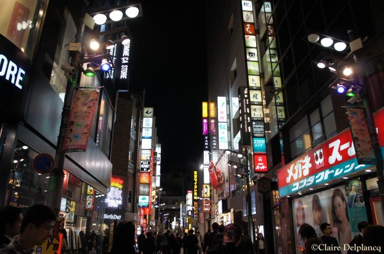 Shinjuku street at night