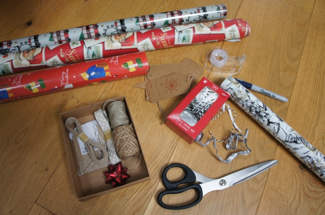 Christmas wrapping paper M&S and Paperchase