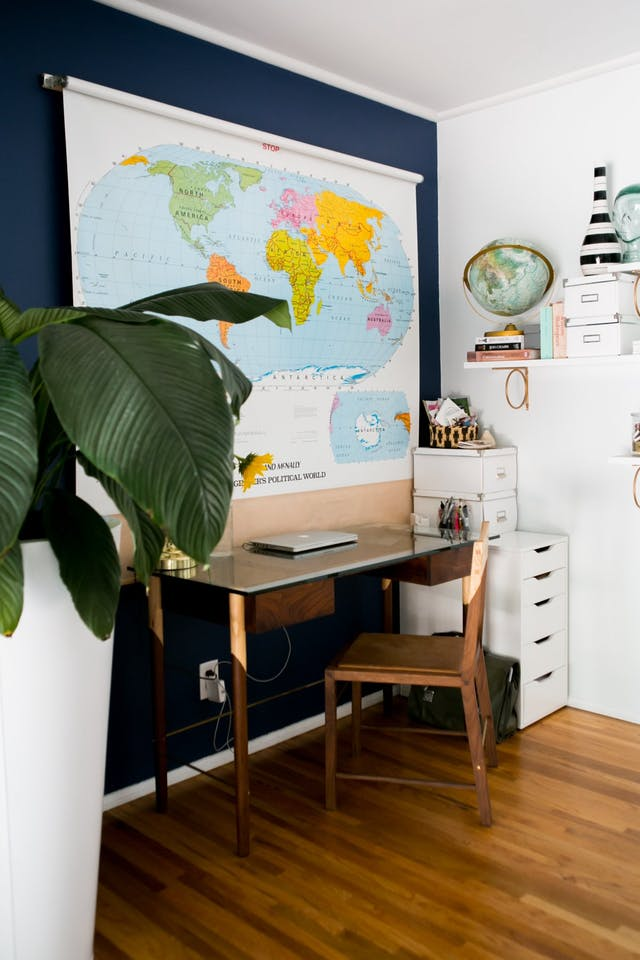Home office navy blue inspiration