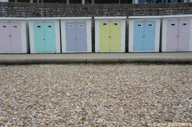 Lyme Regis beach cabins