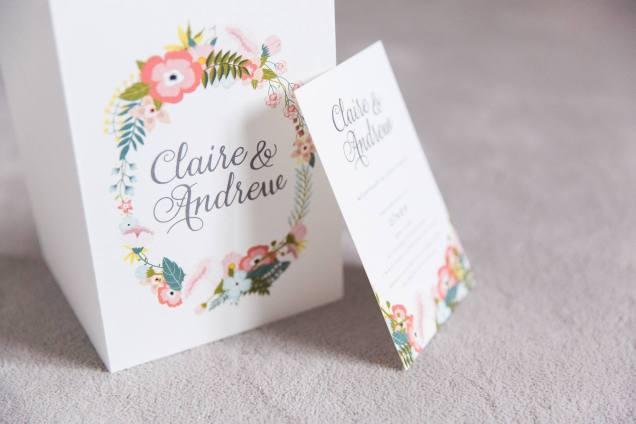 L'Art Du Papier wedding invitation