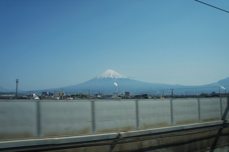 Mount Fuji from Shinkansen
