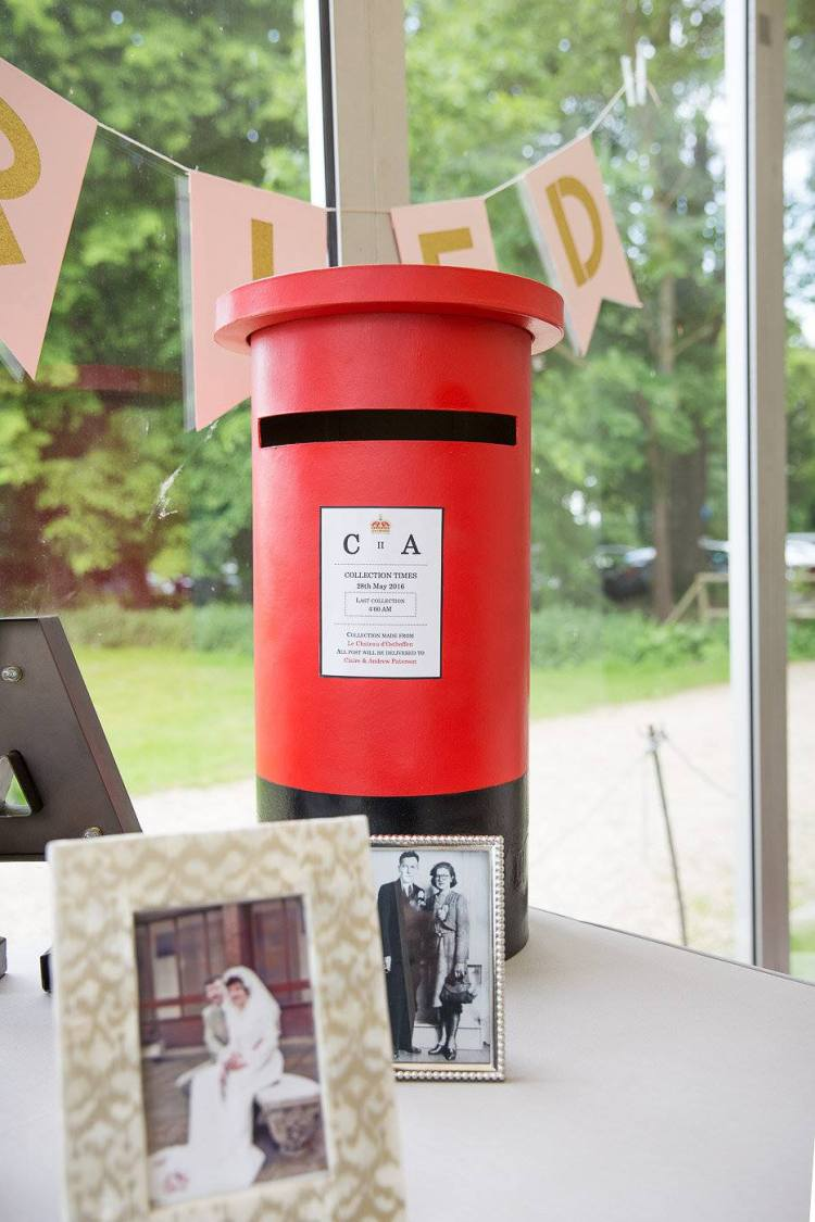 Royal mail box wedding