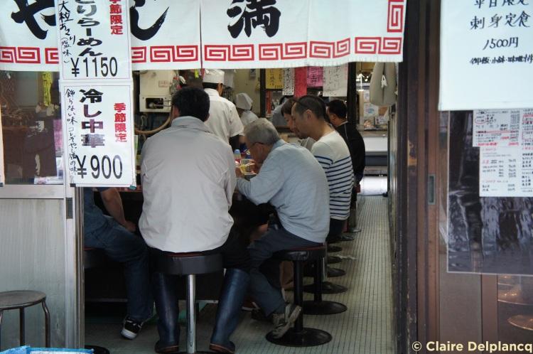 Restaurant in Tokyo fish market