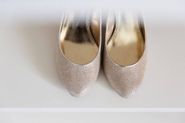 Dune rose gold shoes