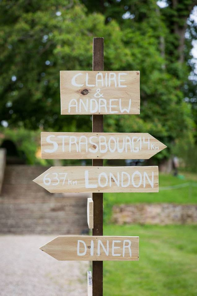 Wedding London Strasbourg sign post