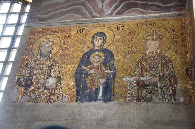 Comnenus mosaic in Hagia Sophia