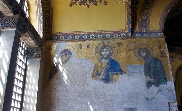 Deësis mosaic in Hagia Sophia