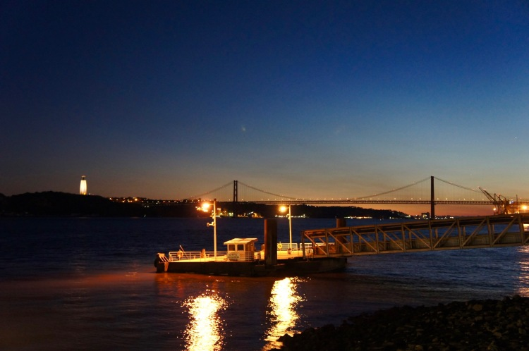 Lisbon and the Tagus by night