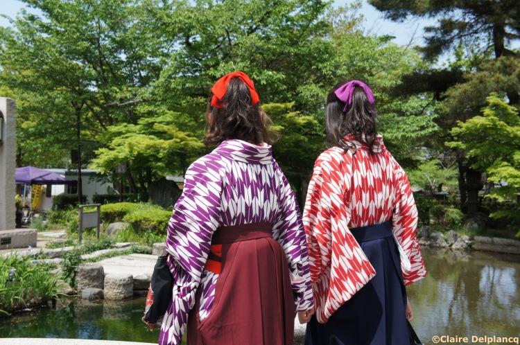 Matching kimonos in Kyoto