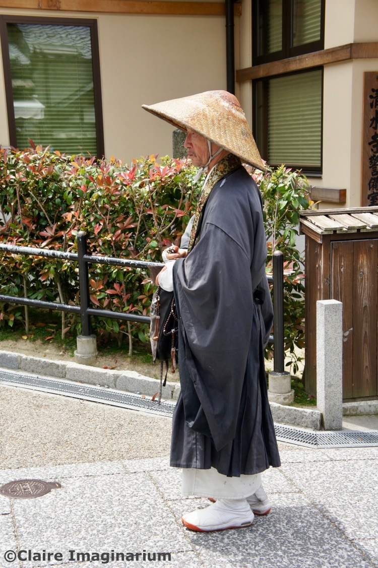 Man in traditional outfit in Kyoto