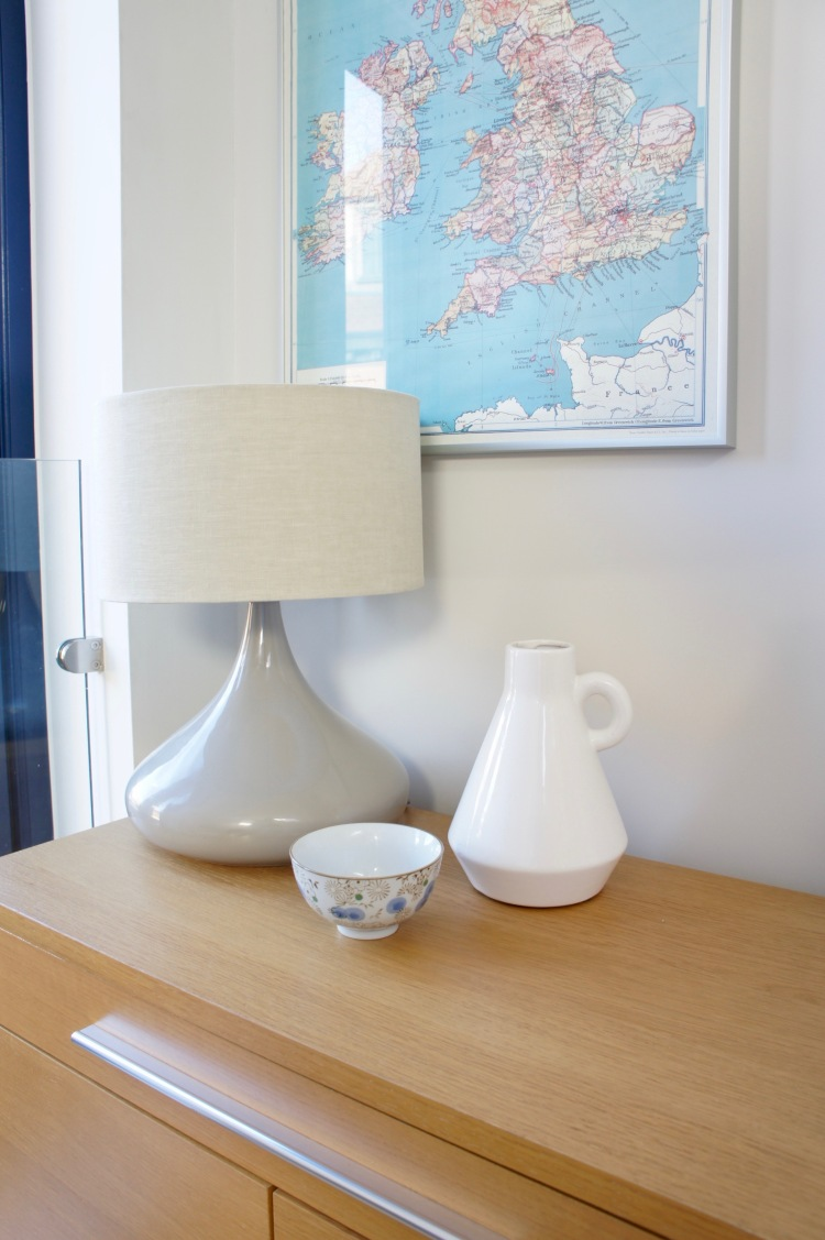 Conran for M&S table lamp on Ikea sideboard