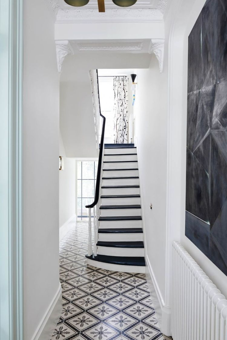 Black and white staircase inspiration
