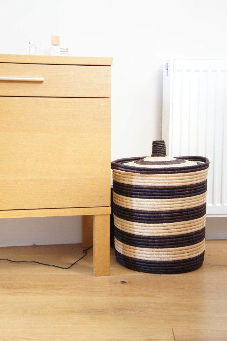 Storage basket in living-room