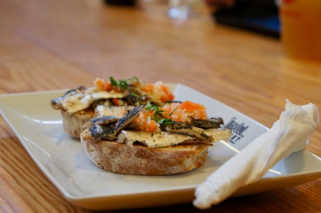 Sardine bruschetta Time Out Market Lisbon