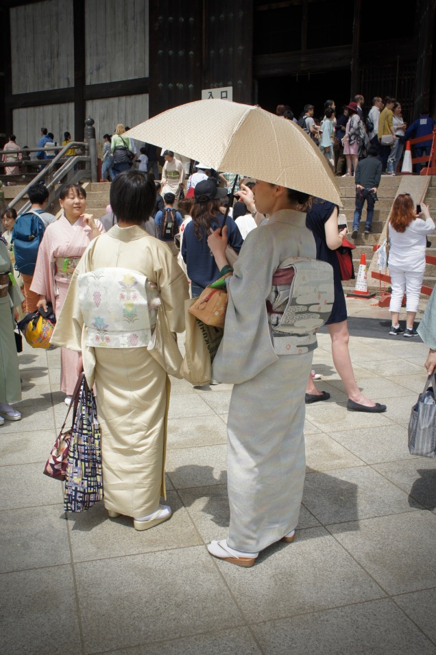 Ladies wearing kimonos in Nara