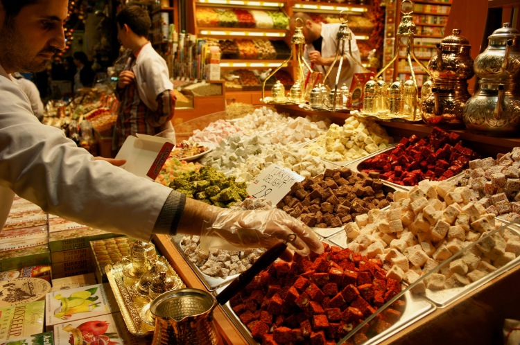 Turkish delight at the Spice Bazaar in Istanbul