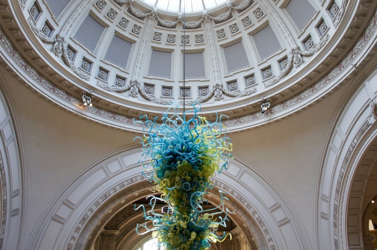 Chandelier in the Victoria and Albert Museum grand entrance