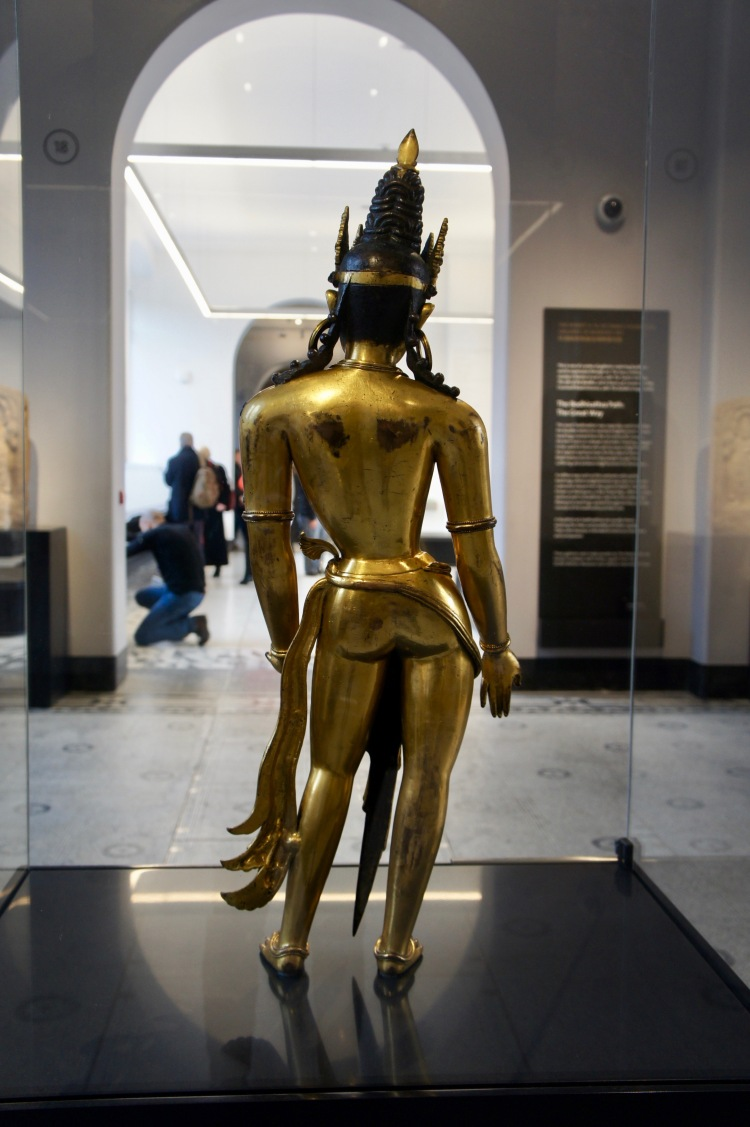 Indian gold statue at the Victoria and Albert Museum