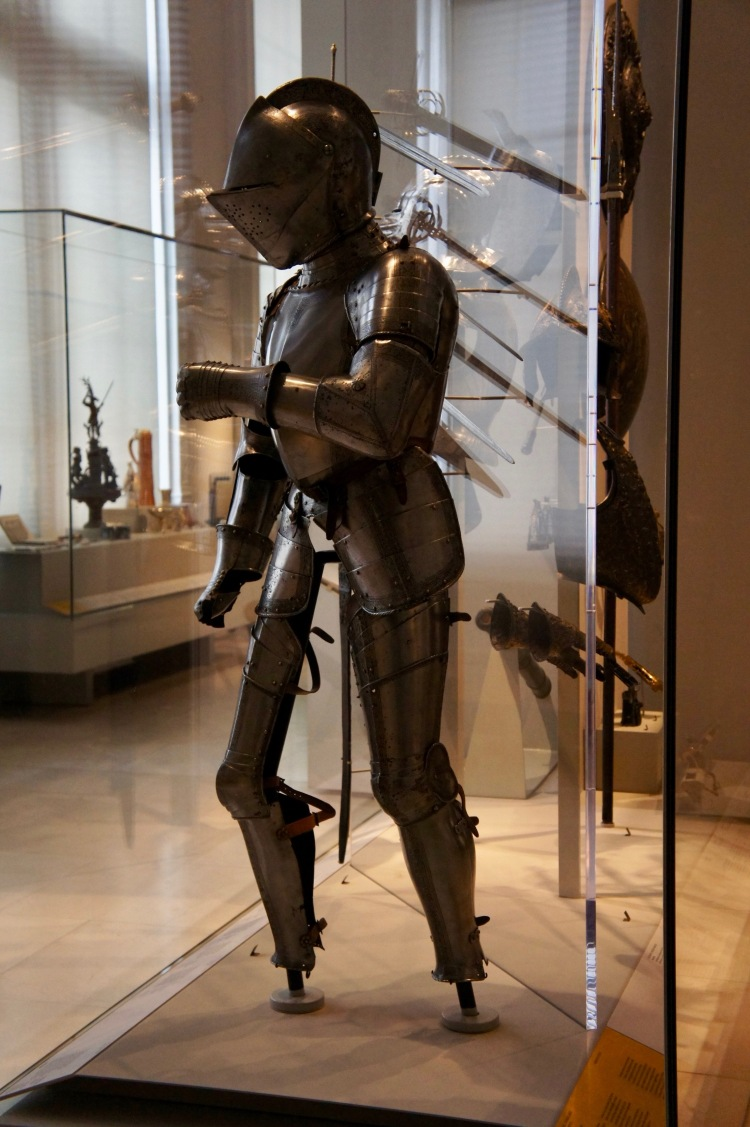 Knight armour at the Victoria and Albert Museum