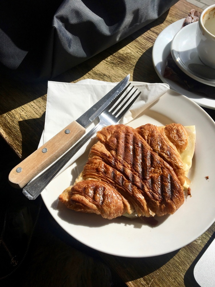 The Brockley Deli toasted croissant