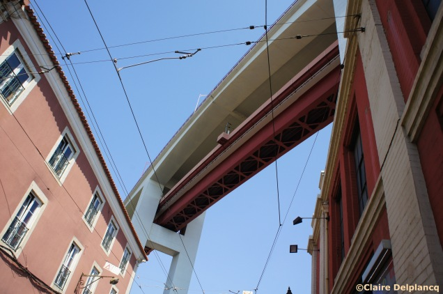 Under 25 de Abril bridge in Lisbon