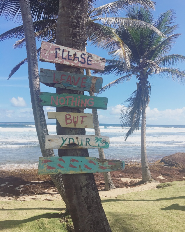 Bathsheba beach sign