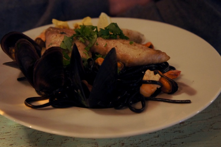 Squid ink linguine RestauranteNoah Santa Cruz