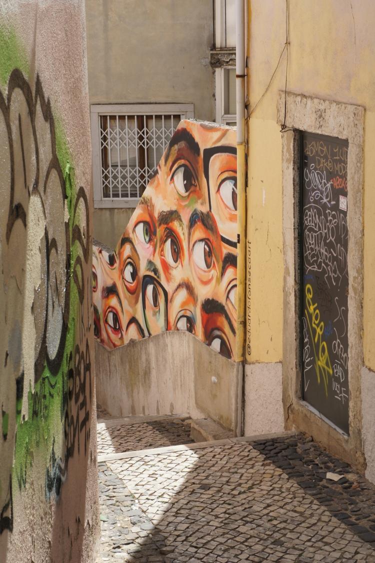 Street art Alfama Lisbon