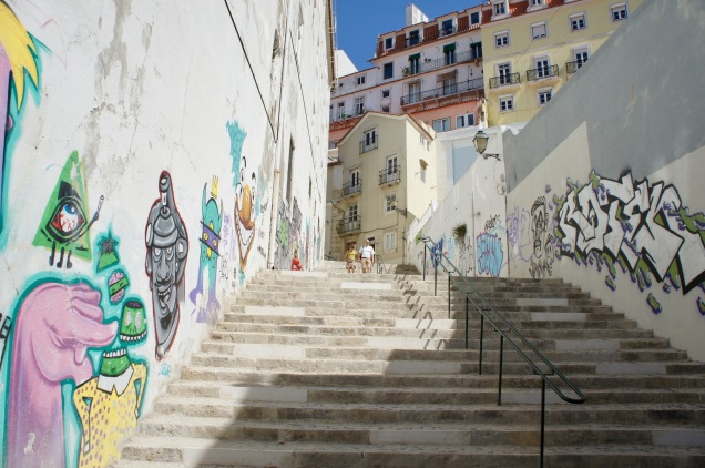 Alfama stairs Lisbon