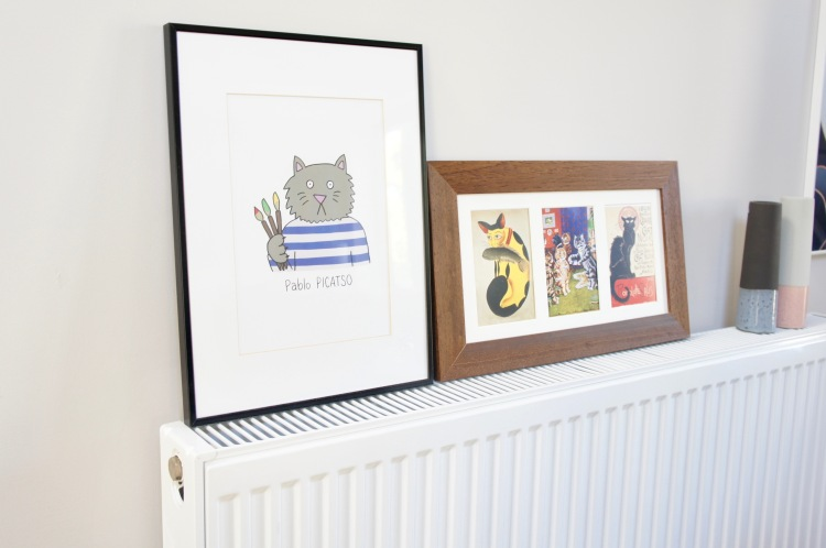 Art displayed on radiator