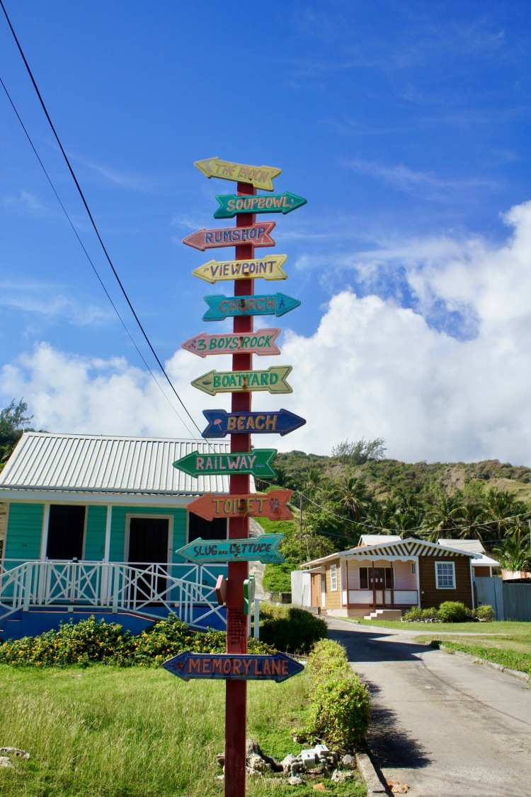 Sign post in Bathsheba