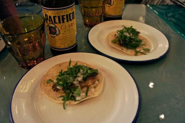 Choripapa tacos with chorizo and potatoes El Pastor London