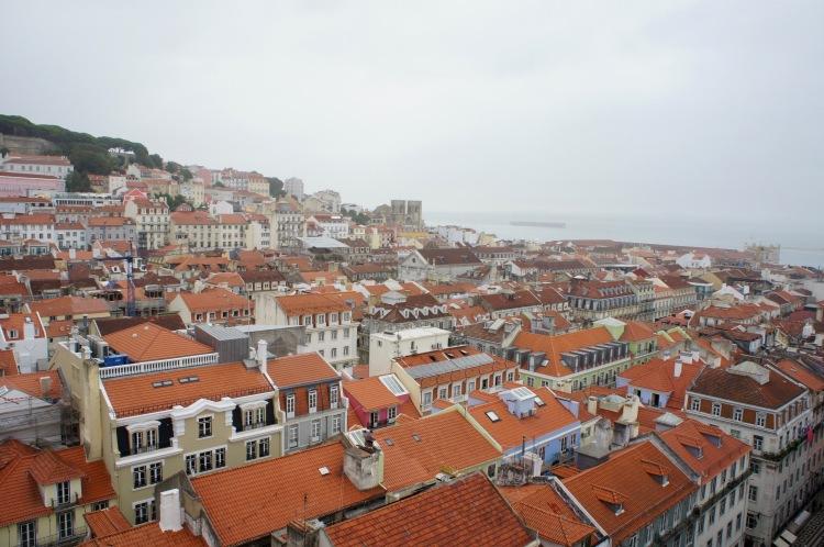 Elevador de Santa Justa view Lisbon