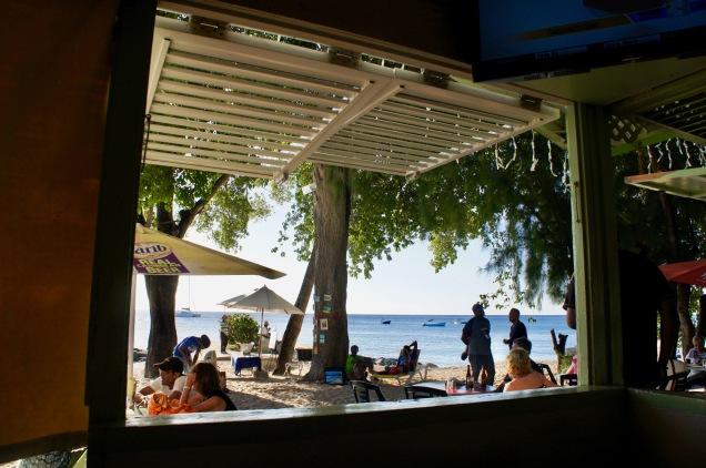 Holetown beach bar