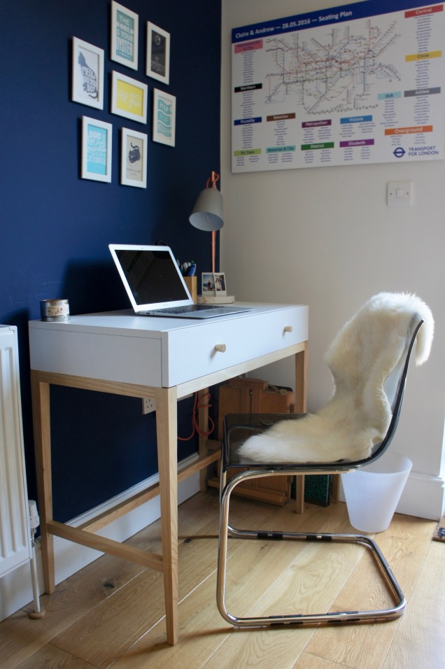 Navy home office