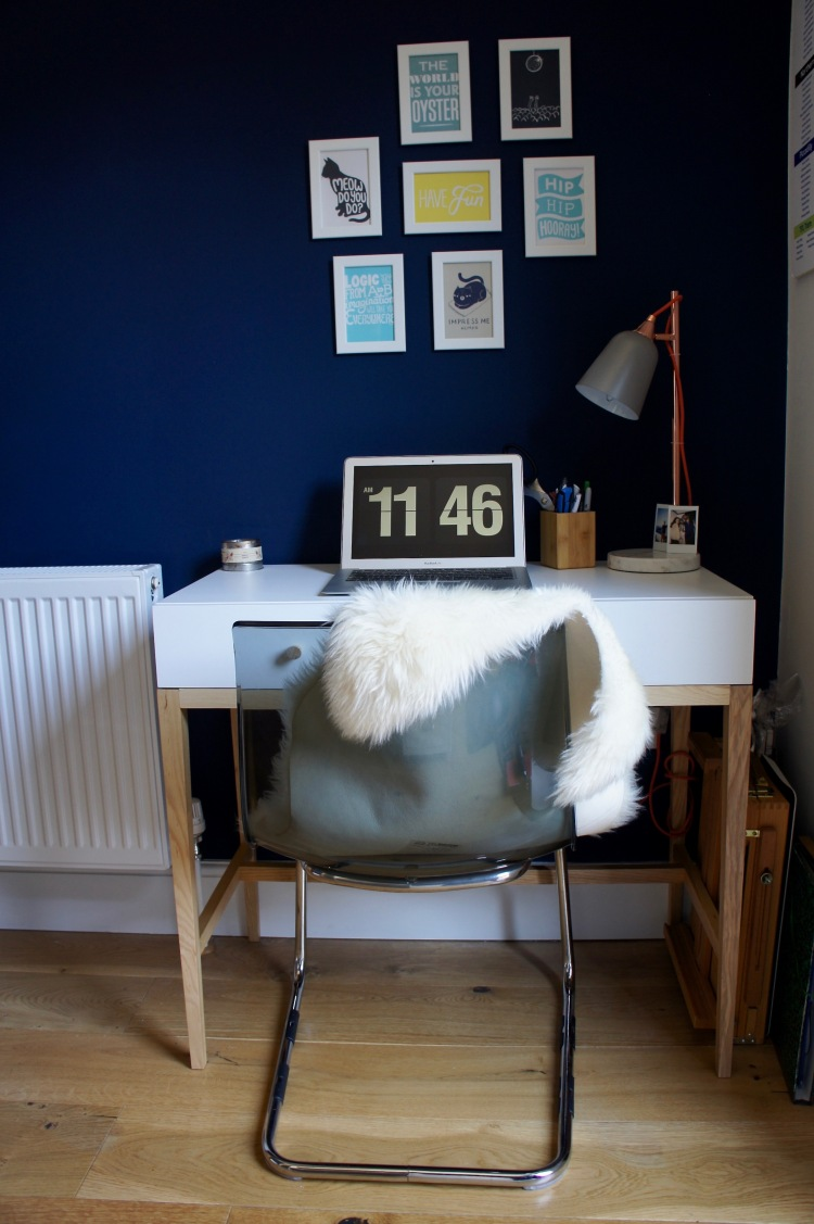 Home office Habitat desk and Ikea chair