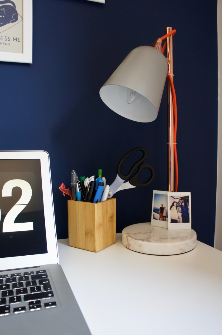 Home office Oliver Bonas lamp