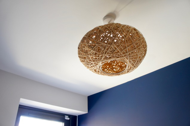 Rattan ceiling lamp shade