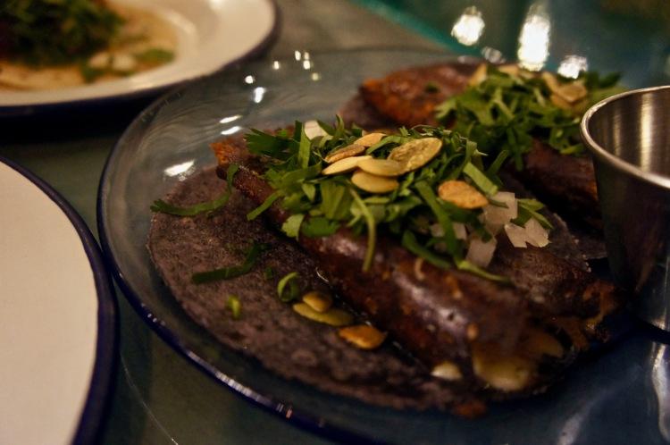 Mushroom tacos El Pastor London